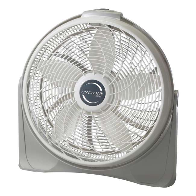LKO-3520-TX-U-B Lasko 20 Inch Cyclone Portable Floor or Wall Mount Pivoting Fan, White (Used)