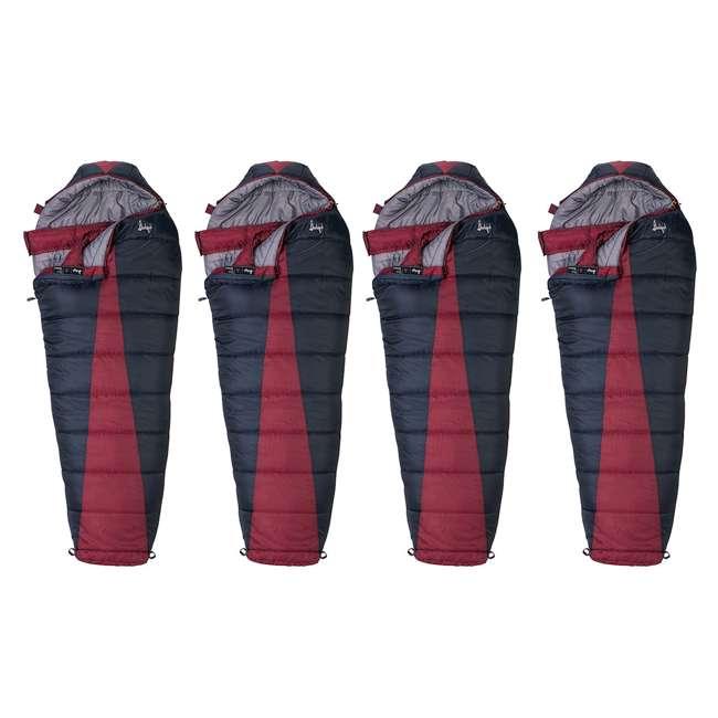 4 x 51723211RR Slumberjack Latitude Regular Zero Degree Sleeping Bag, Red (4 Pack)