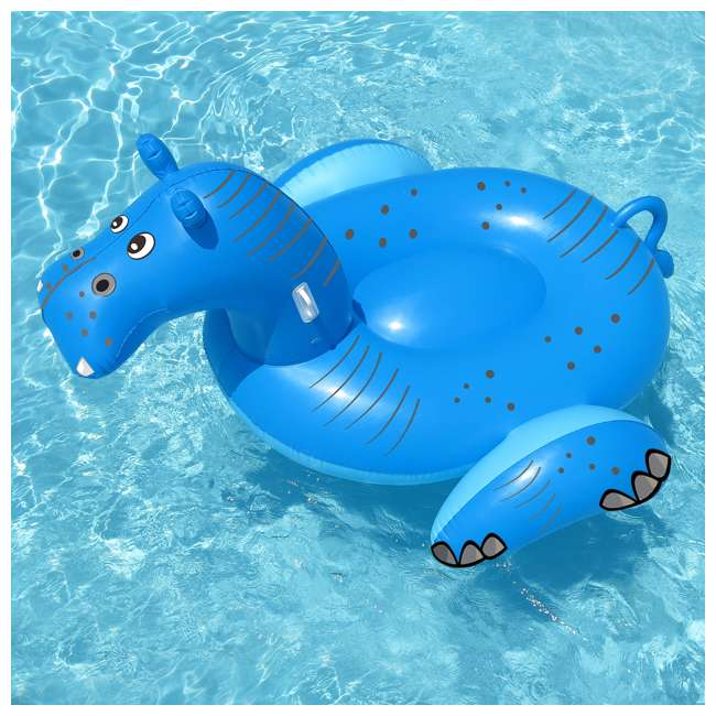 Swimline Giant Inflatable Hippo Ride On Pool Float 90713