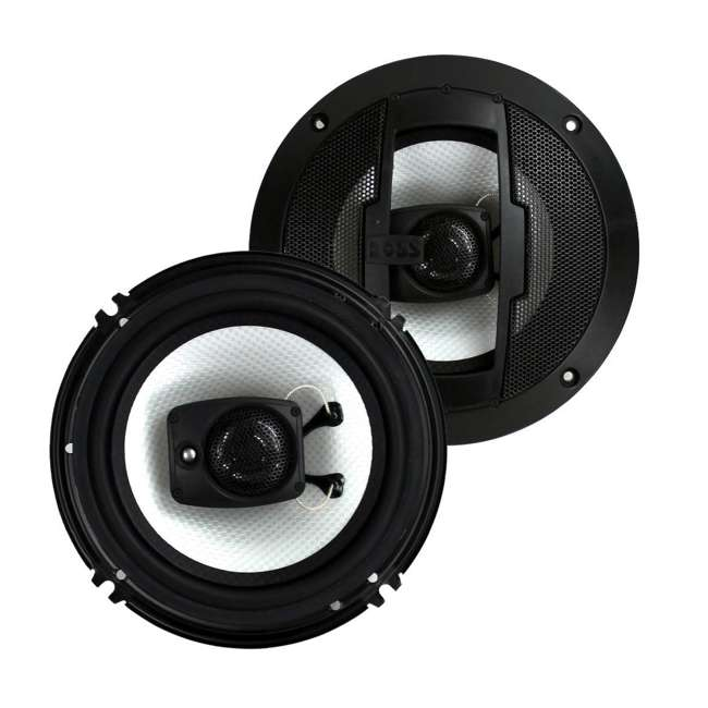 R63 Boss R63 6.5-Inch 300W 3 Way Coaxial Speakers (2 Pairs) 1