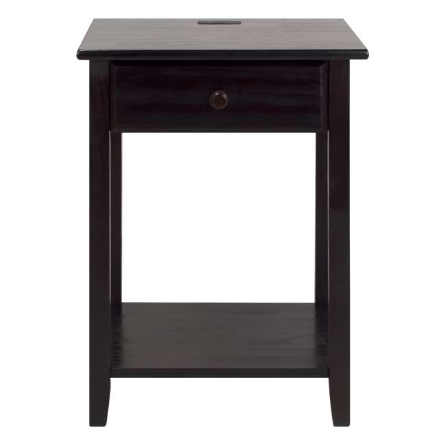 647-23 Casual Home Night Owl Nightstand with USB Ports