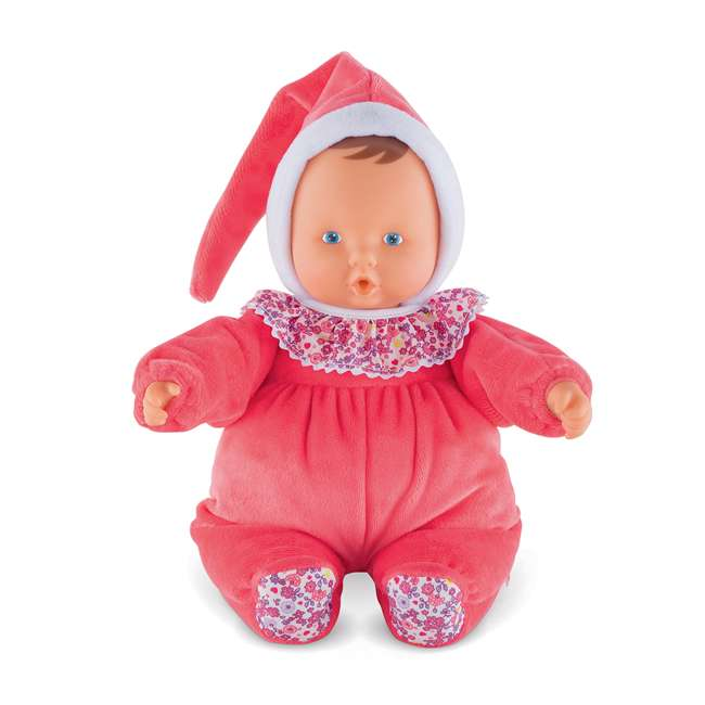 """FBD05 + FRN90 Corolle Mon Doudou Babipouce Floral Bloom 11"""" Soft Body Doll and Canopy Stroller 1"""