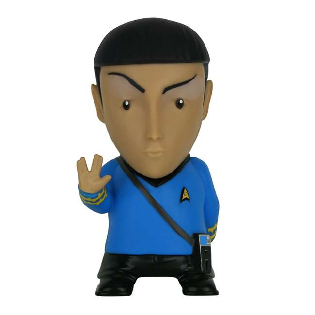 FT-SPK-U-B Fametek Star Trek Mr. Spock 6-Inch Wireless Bluetooth Speaker w/ 9 Quotes (Used)