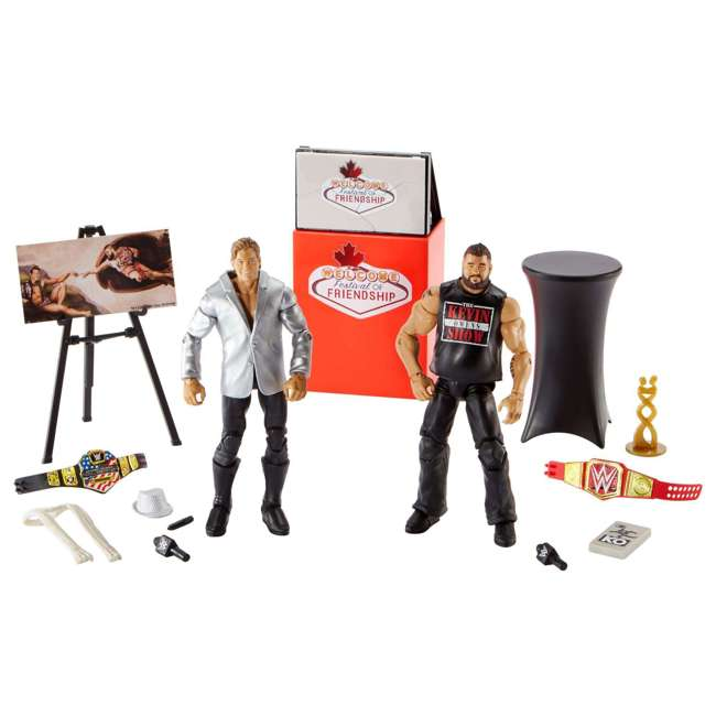 FRX45 WWE Epic Moments Festival of Friendship 2 Figure Play Set