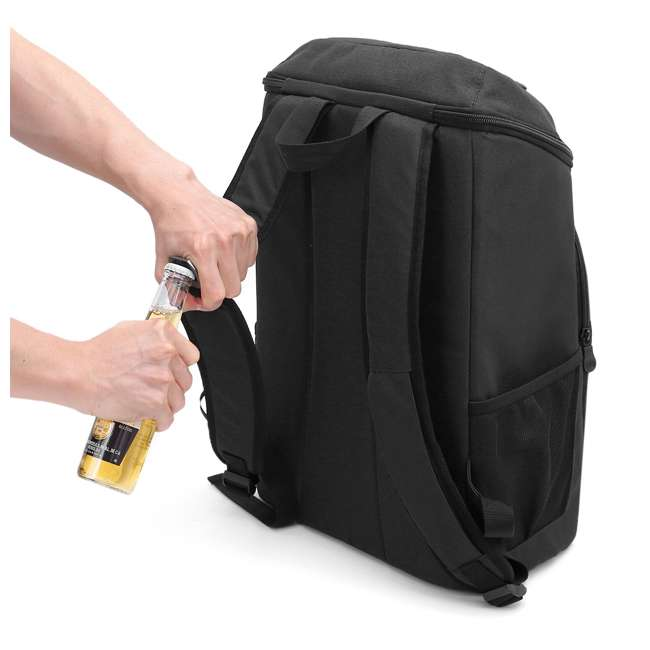 TR0260008B001 TOURIT Cygnini TR0260008B001 Insulated Leak-proof 21 Can Cooler Backpack, Black 3