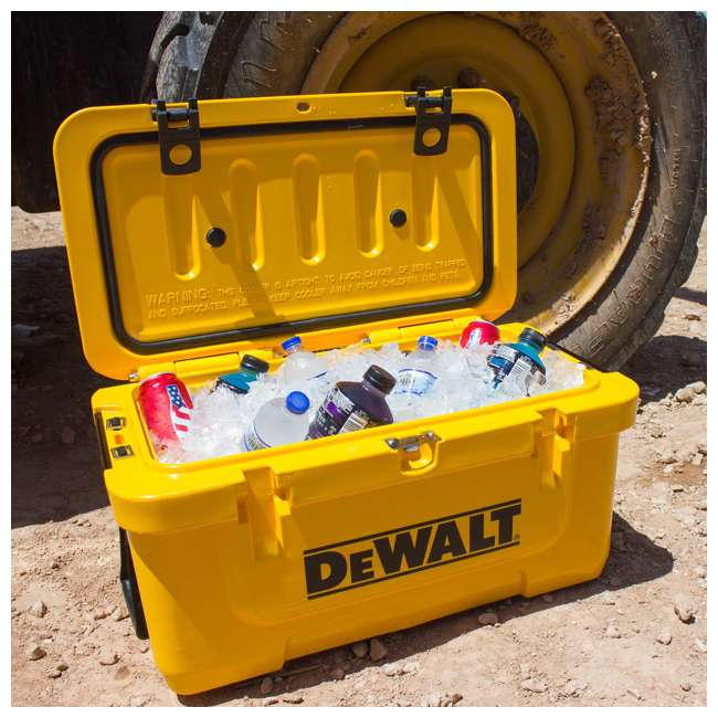 DXC65QT DeWalt 65 Quart Insulated Lunch Box Drink Cooler Roto Molded Portable, Yellow 3