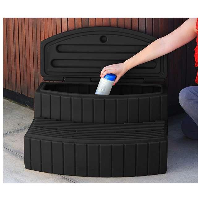 SSTEP-BLK Good Ideas Sora Steps Lightweight Plastic Outdoor & Indoor Storage Step, Black 3