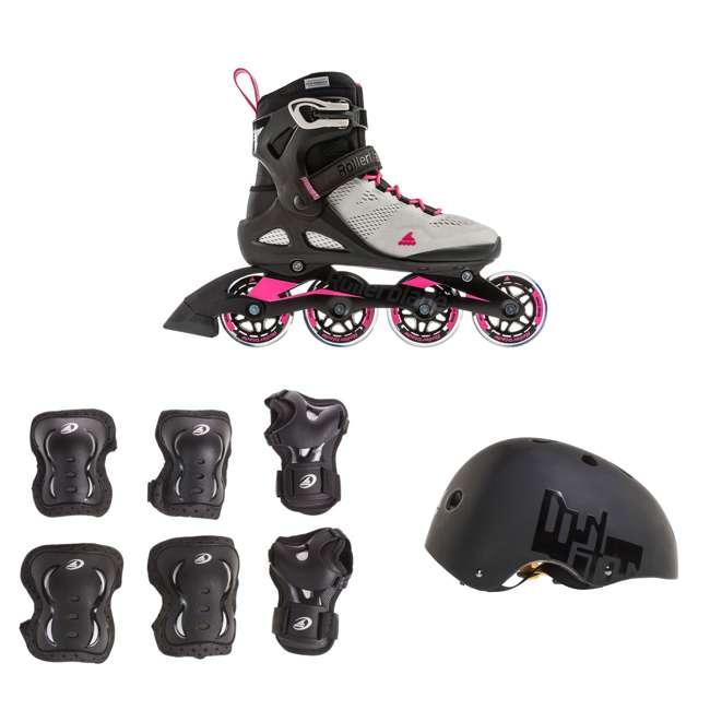 7955300500-7 + 06320200001-M + 067H0310800-L Rollerblade USA Women's Size 7 Rollerblades + Pads + Helmet