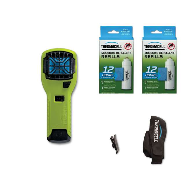 MR300V Thermacell MR300G Mosquito Repellent & 12-Hour Refill Pack (2 Pack) & Holster