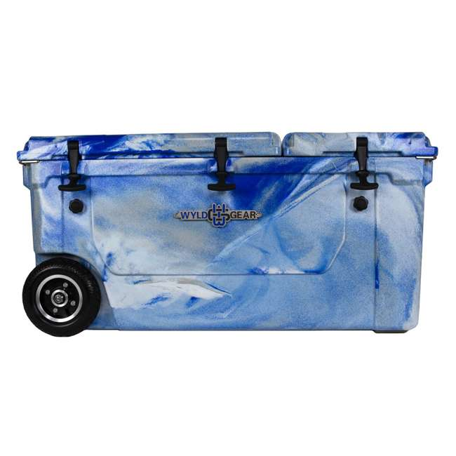HC75-17M WYLD 75 Quart Pioneer Dual Compartment Insulated Cooler w/ Wheels, Marine Blue 2