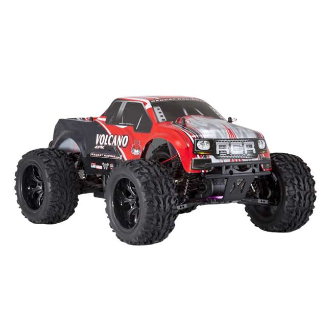 4 x VOLCANOEP-94111-RedBlack-24 Redcat Racing Volcano EPX 1:10 Scale RC Monster Truck, Red (4 Pack) 7
