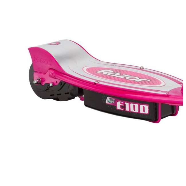13111261 + 13111240 Razor E100 Kids Motorized 24 Volt Electric Powered Scooter, 1 Pink and 1 Blue 8