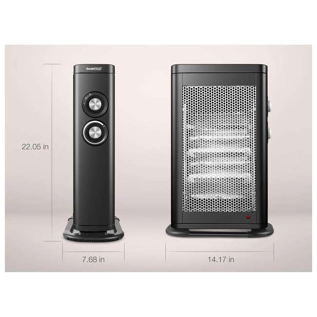 HQ28-15M Geek Heat HQ28-15M Infrared & Convection Electric Portable Space Heater (2 Pack) 2