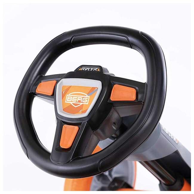 24.60.01.00 BERG Reppy Racer Kids Pedal Go Kart Ride On Toy w/ Axle Steering, Gray & Orange 5