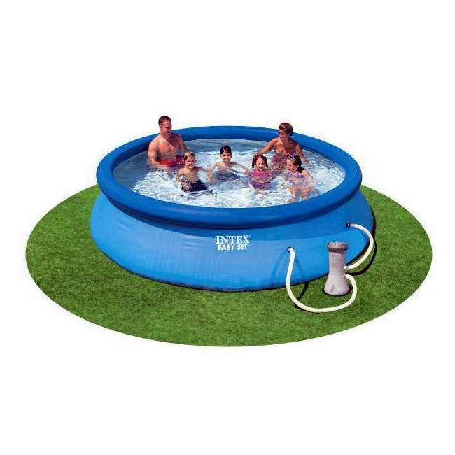 "28131EH-U-A Intex 12' x 30"" Easy Set Above Ground Swimming Pool & Pump (Open Box) (2 Pack) 1"