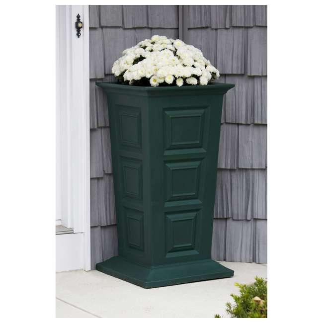 SV-P-GRN Good Ideas Savannah Outdoor Self Watering Tall Colonial Planter stand, Green 1