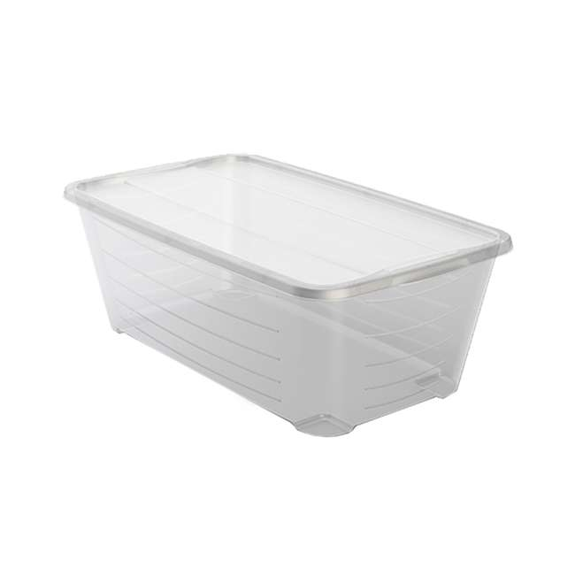 12 x MHSB Life Story 5.7-Liter Clear Shoe Closet Storage Box Container (12 Pack) 1