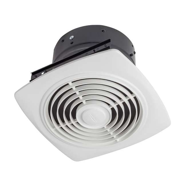 """BR-505-U-B Broan 8"""" 180 CFM Vertical Discharge Fan with White Square Plastic Grille (Used)"""