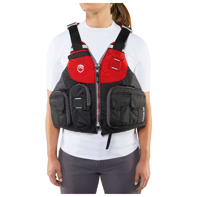40071.01.101 NRS Chinook OS Type III Fishing Life Vest PFD with Pockets, X Small/Medium, Red 6