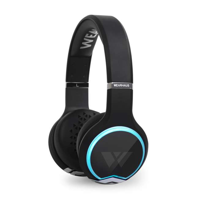 WH-6128-ARC-11 Wearhaus Arc Wireless Bluetooth On-Ear Headphones, Black