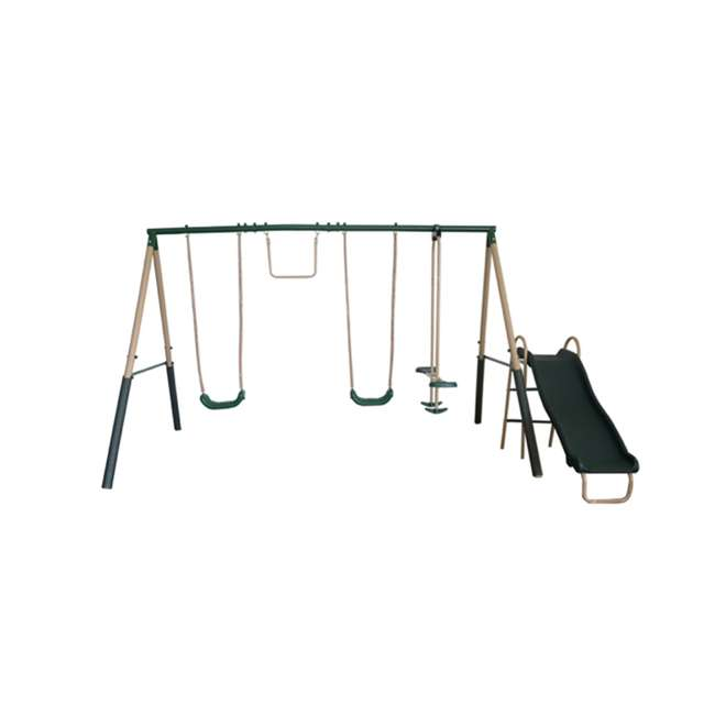 XDP-94444 + XDP-70113 XDP Recreation Childrens Outdoor Metal Play Swing Set Swing Set & Anchor Kit