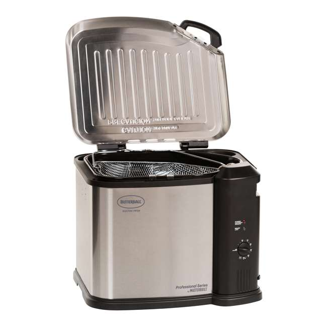 BB-MB23012418 Masterbuilt Butterball XL Electric Turkey Fryer, Stainless Steel 1