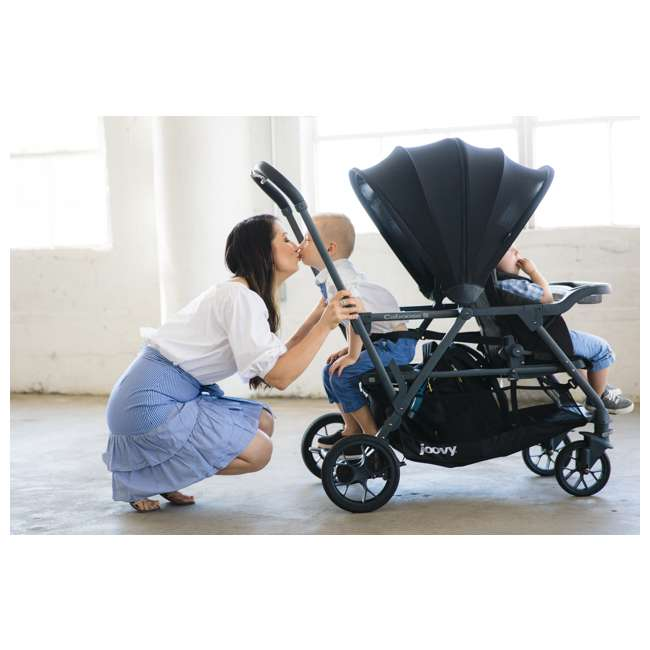 8217 + 9111 Joovy Folding Sit and Stand Double Stroller w/ Parent Organizer 5