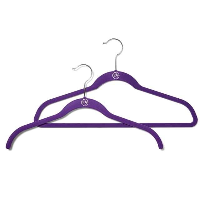 JHR015000 Huggable Hangers Shirt Hangers 24-pack, Chrome, Purple