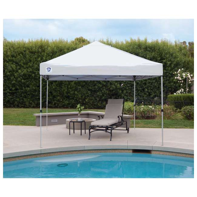 ZS1010PKWH-U-A Z-Shade 10' x 10' Peak Canopy Instant Portable Shelter (Open Box) (2 Pack) 1