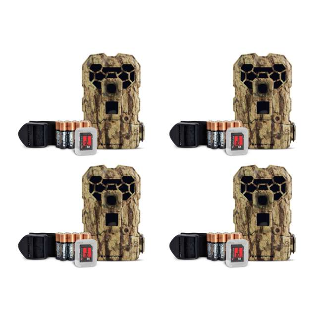4 x STC-QS24NGK Stealth Cam QS24NGK 12MP HD Video Game Trail Camera (4 Pack)