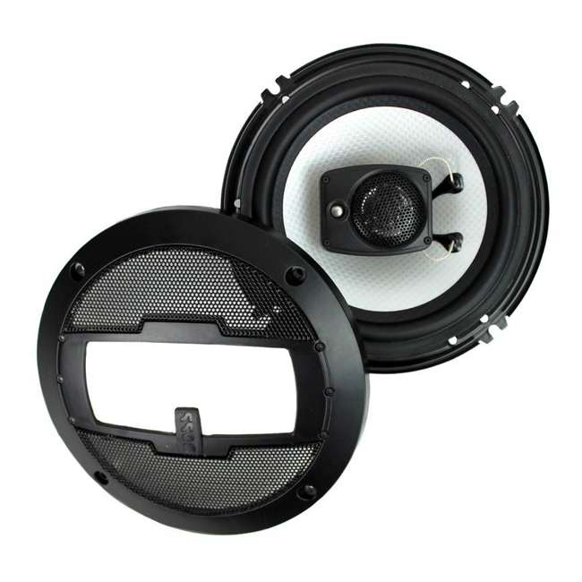 R63 Boss R63 6.5-Inch 300W 3 Way Coaxial Speakers (2 Pairs) 7