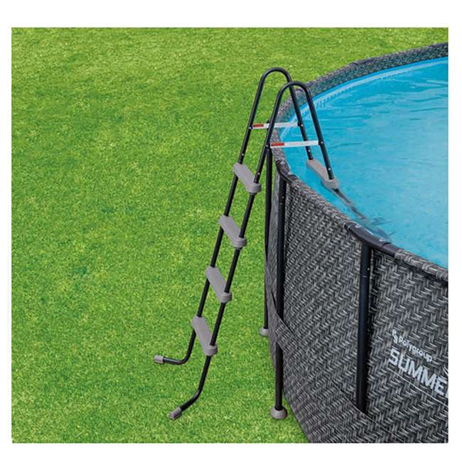 """P4A01848B167 + 28001E Summer Waves Elite 18' x 48"""" Above Ground Frame Pool Set + Intex Automatic Above Ground Pool Vacuum  6"""