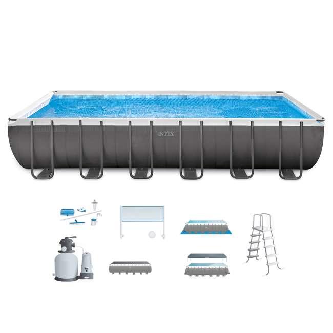 Intex 24 x 12 x 4.3 Foot Ultra Frame Swimming Pool Set : 26365EH