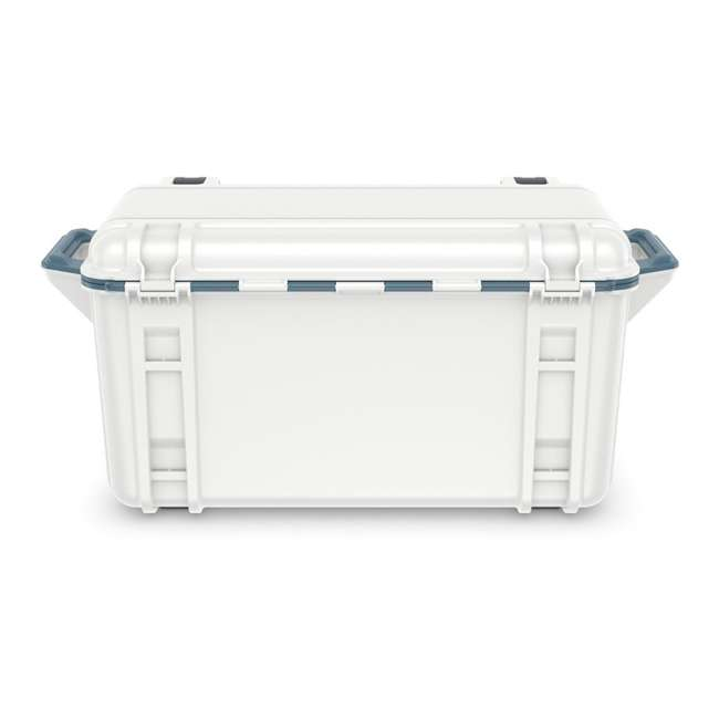 77-54868 Otterbox Venture Heavy Duty Outdoor Camping Fishing Cooler 65-Quarts, White/Blue 4