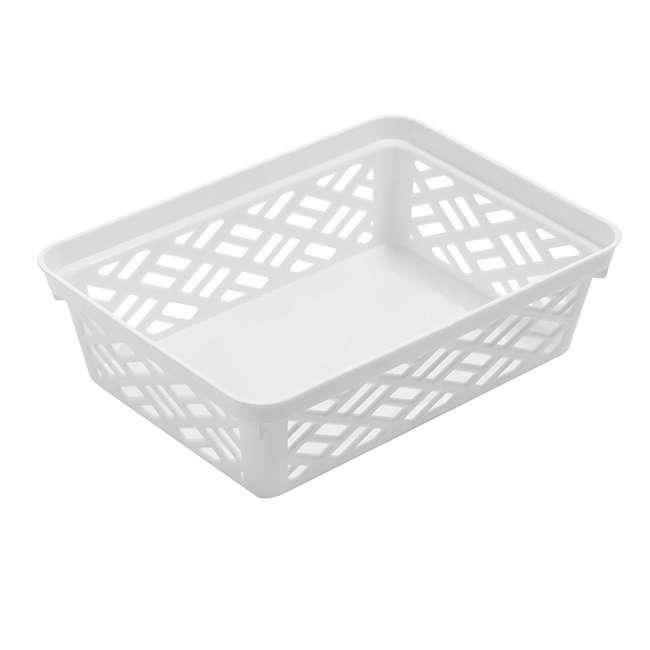 FBA32133 Ezy 32133 Small Brickor Plastic Storage Household Organization Basket, White 1