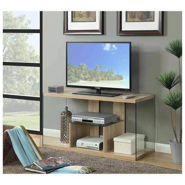 R4-0192 Convenience Concepts Soho 50 Inch Wood TV Stand Console Table, Weathered White 2