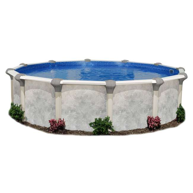 5-4912-136-52 12ft x 52in Tahitian Resin Wall Steel Frame Above Ground Swimming Pool