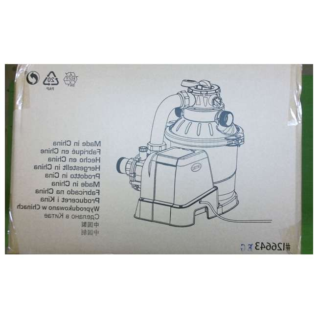 I26643 Intex 1200 GPH Above Ground Pool Sand Filter Pump w/ Automatic Timer (Brown Box) 4