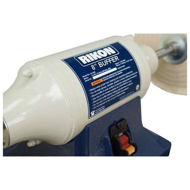 81-608 Rikon Power Tools 81-608 8-Inch 0.5 Horsepower Low-Speed Long Shaft Buffer 4