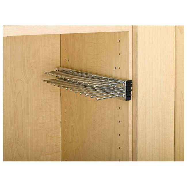 TRC-14CR Rev-A-Shelf TRC-14CR 14 Inch Side Mount Extending Tie Organization Rack, Chrome 1