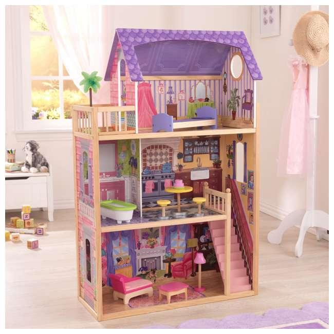 KDK-65092-U-A KidKraft Kids' Kayla Wooden Dollhouse and Furniture Pieces (Open Box) (2 Pack) 3