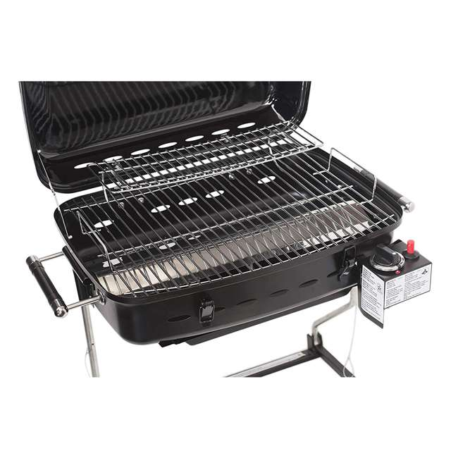 YSNHT400 Flame King YSNHT400 RV Trailer Mount 214 Square Inch Propane Gas Grill, Black 2