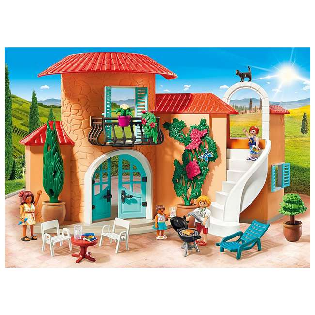 9420 Playmobil 9420 Summer Villa Interactive Doll House & Figures Play Set, Ages 4+ 4