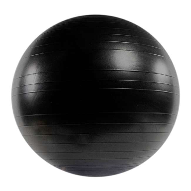 80028 Power Systems Versa Exercise Yoga Training Balance Stability Workout Ball, Black