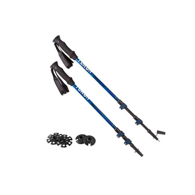83-0152 Yukon Charlie's Advanced Trekking Poles, Blue