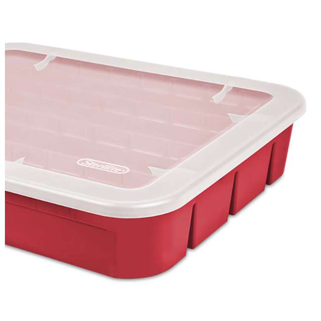 12 x 19796606 Sterilite Adjustable Ornament Storage Box, Red (12 Pack) 4