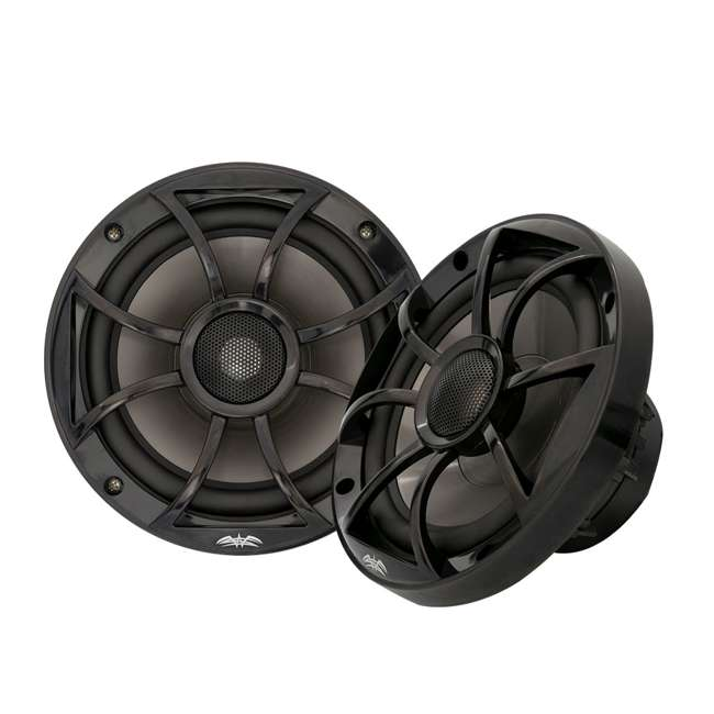 RECON6BG-U-B Wet Sounds 6.5 Inch 2 Way Open Grille Marine Speakers in Black, Pair (Used) 2