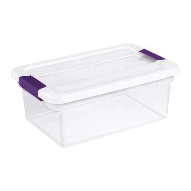 36 x 17531712-U-A Sterilite 15-Quart ClearView Latch Storage Tote Container (Open Box) (36 Pack) 5