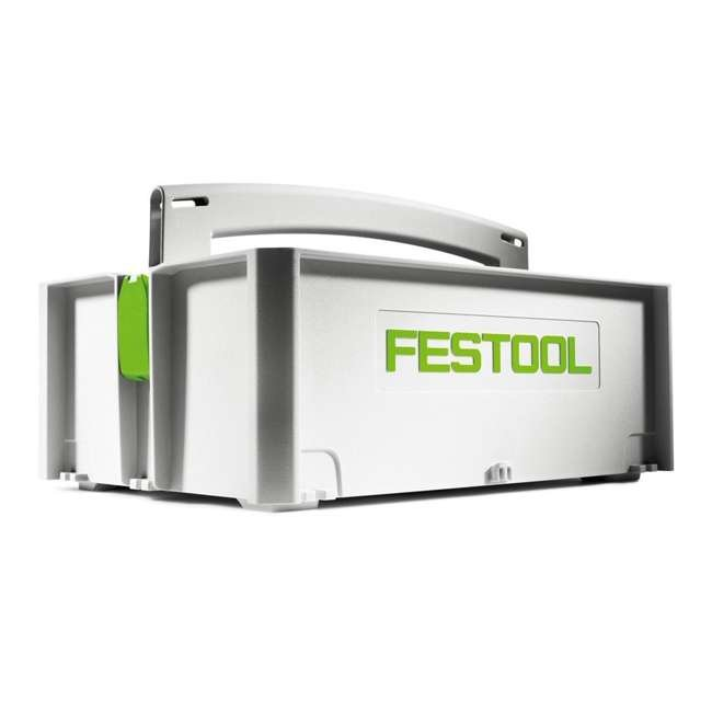 495024 Festool SYS Toolbox Open Top Systainer with Handle, White and Green 1