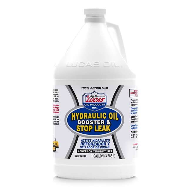 10018 Lucas Oil 10018 Hydraulic Oil Booster and Stop Leak Fluid Additive, 1 Gallon